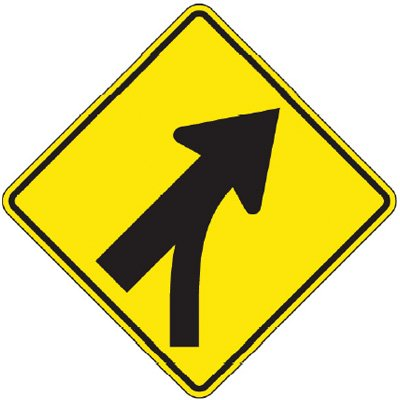 Reflective Warning Signs - Entering Roadway Merge (Symbol)