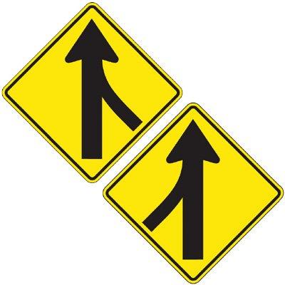 Reflective Warning Signs - Lane Merged (Symbol)
