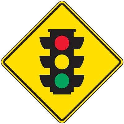 Reflective Warning Signs - Traffic Signal Symbol
