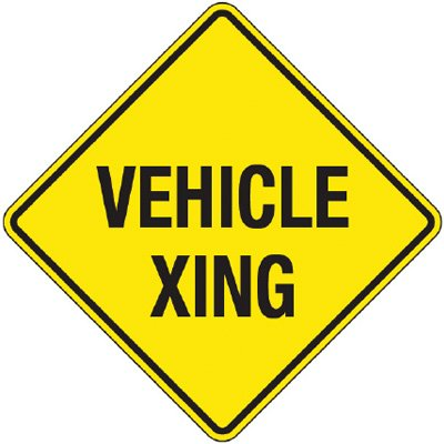 Reflective Warning Signs - Vehicle Xing