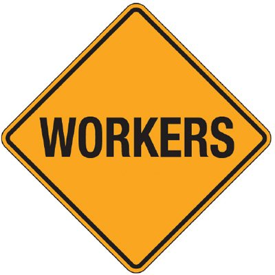 Reflective Warning Signs - Workers