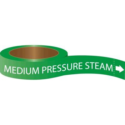 Roll Form Self-Adhesive Pipe Markers - Medium Pressure Steam