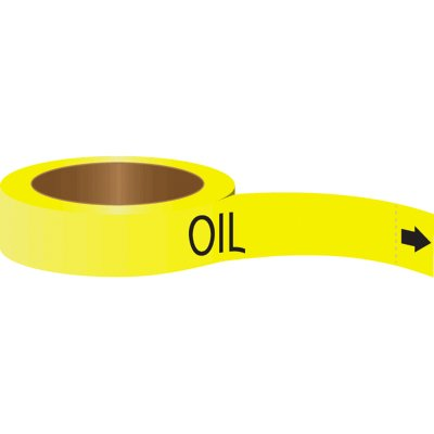 Roll Form Self-Adhesive Pipe Markers - Oil