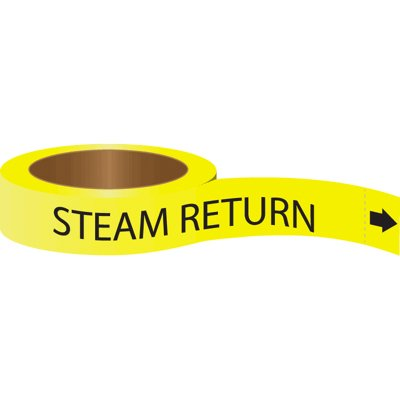 Roll Form Self-Adhesive Pipe Markers - Steam Return