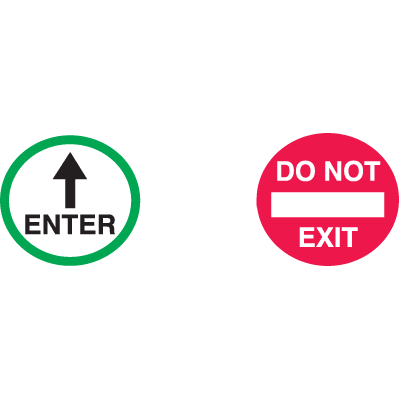 Do Not Exit  /  Enter (With Arrow) Safety Door And Window Decals