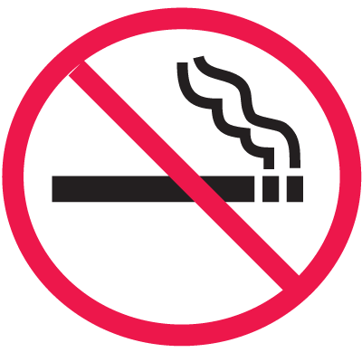 Safety Door And Window Decals- (No Smoking Graphic Only)