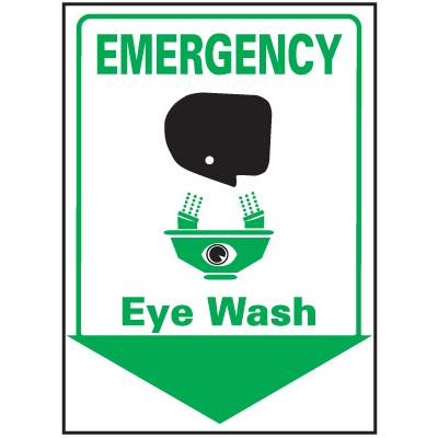 Emergency Eye Wash Safety Equipment Location Marker