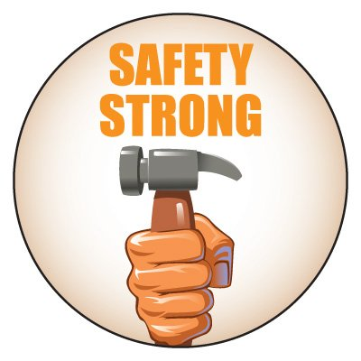 Safety Hard Hat Labels - Safety Strong