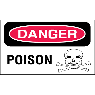 Safety Labels On A Roll - Danger Poison