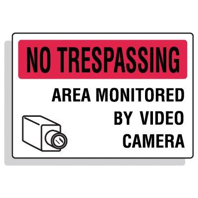 Security Camera Signs - No Trespassing