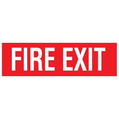 Adhesive Vinyl Fire Exit Signs - Fire Exit