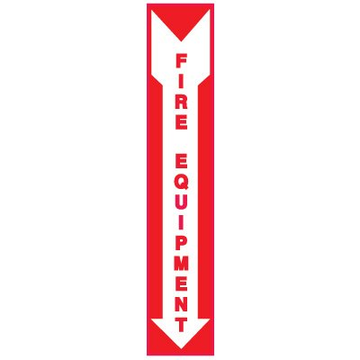 Adhesive Vinyl Fire Exit Signs - Fire Equipment