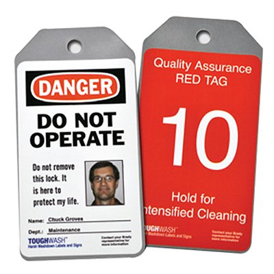 Semi-Custom ToughWash™ Encapsulated Plastic Tags