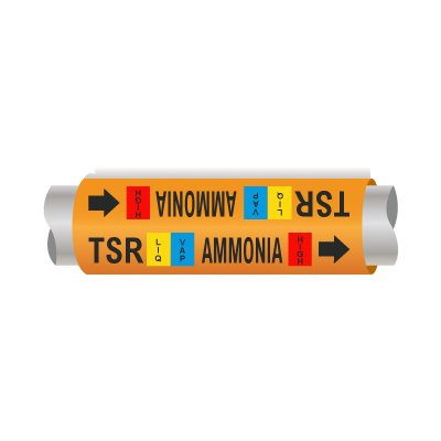 Setmark® Ammonia Pipe Markers - Thermosyphon Return
