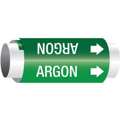 Setmark® Snap-Around Pipe Markers - Argon