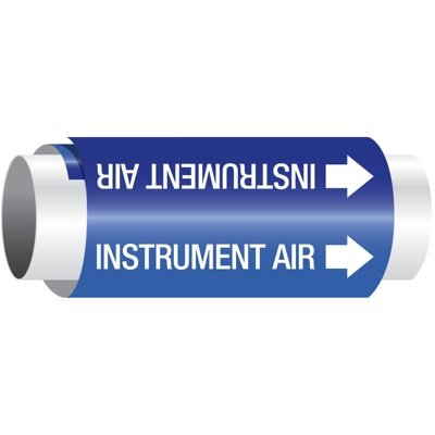 Setmark® Snap-Around Pipe Markers - Instrument Air