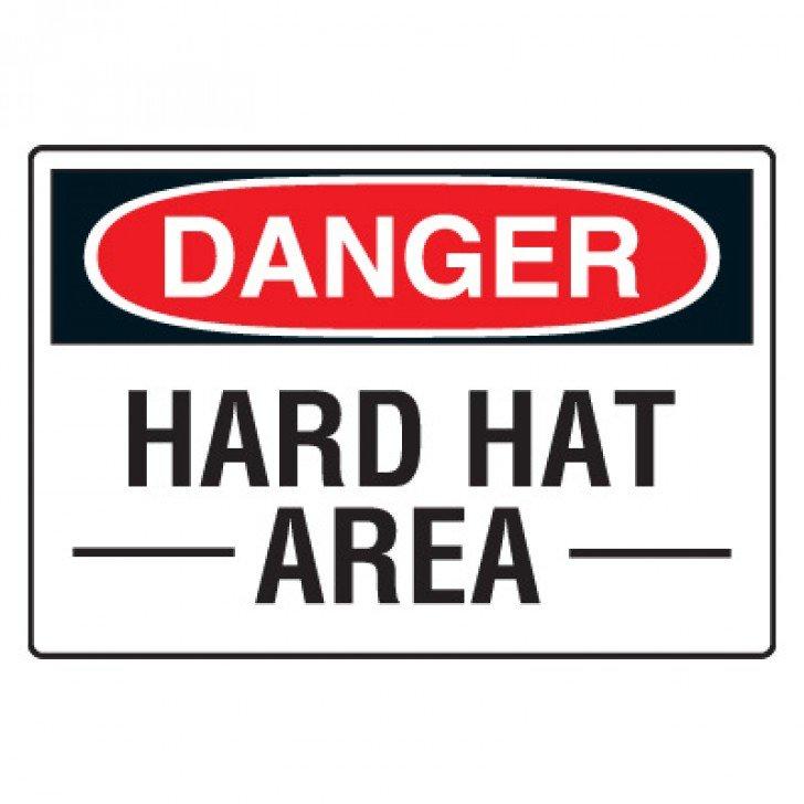 Site Safety Signs - Danger Hard Hat Area