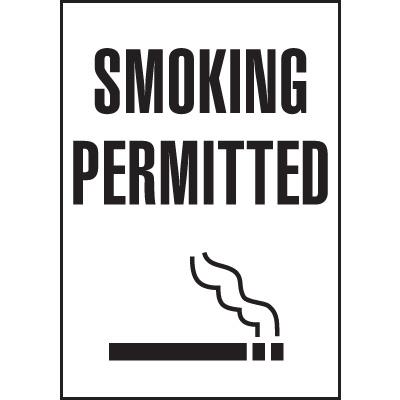 Utah Smoking Signs - Smoking Permitted