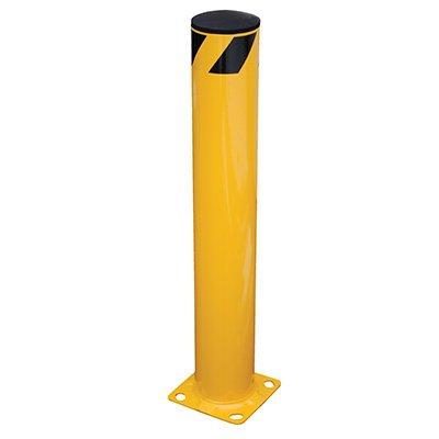 "Steel Pipe Safety Bollard 10"" Base"