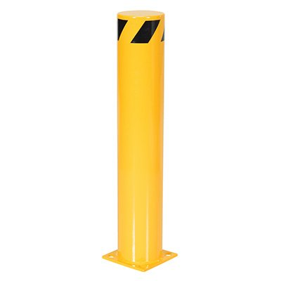 "Steel Pipe Safety Bollard 8"" Base x 6.5"" Dia"