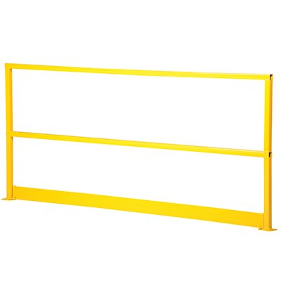 Steel Square Safety Handrails With Toeboard