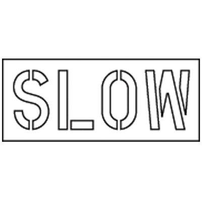 Pavement Tool Slow Stencil S-7120 D