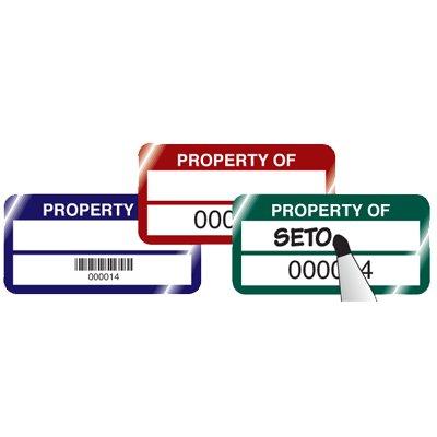 Stock QuickGuard Plus™ Asset Tags