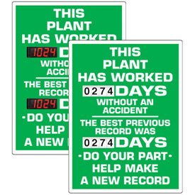 Stock Scoreboards - Plant Without An Accident