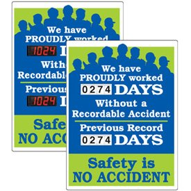 Stock Scoreboards - Proudly Worked Without Recordable Accident