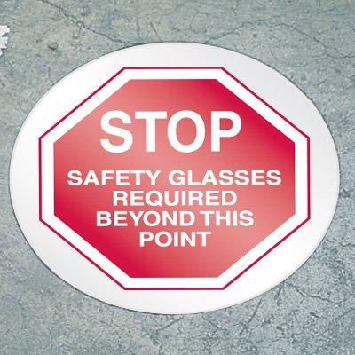 Stop Floor Marker - Safety Glasses