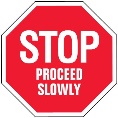 Stop Signs - Stop Proceed Slowly