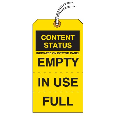 Tear-Off Jumbo Tag Content Status Tags