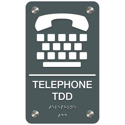 Telephone TDD - Premium ADA Facility Signs