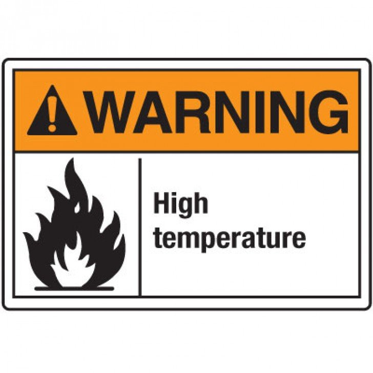 Temperature Warning Signs - Warning High Temperature