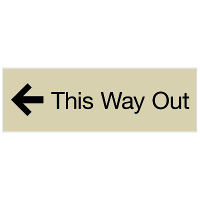 This Way Out - Engraved Graphic Room Signs