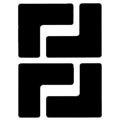Brady® Toughstripe® Die-Cut Shapes - Corner Marks