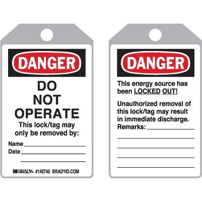 ToughWash™ Encapsulated Tags - Danger Do Not Operate