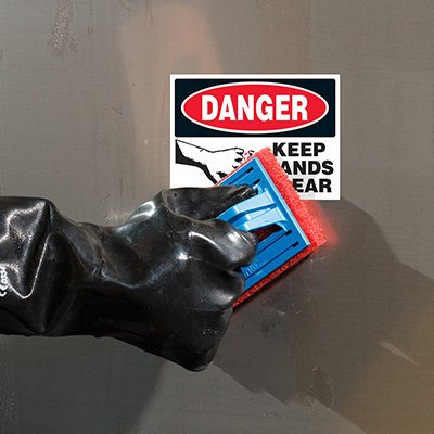 ToughWash® Labels - Danger Keep Hands Clear