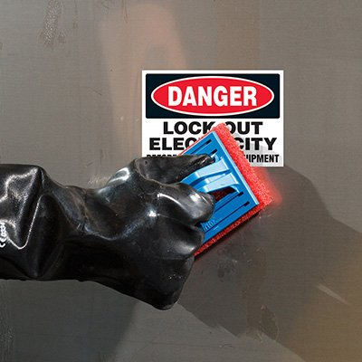 ToughWash® Labels - Danger Lock Out Electricity