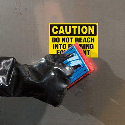 ToughWash® Labels - Do Not Reach Into Equipment