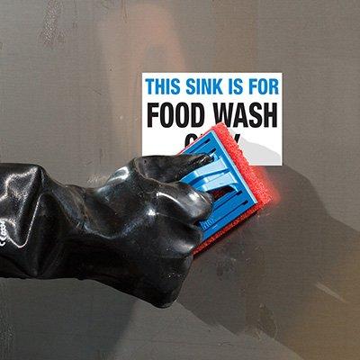 ToughWash® Labels - Food Wash Only Sink