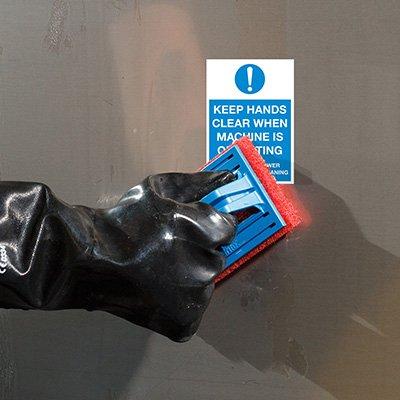 ToughWash® Labels - Keep Hands Clear Machine