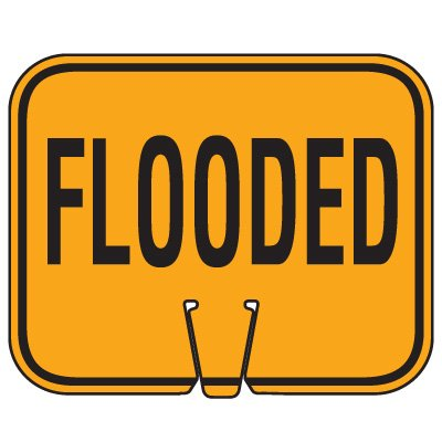 Traffic Cone Signs - Flooded