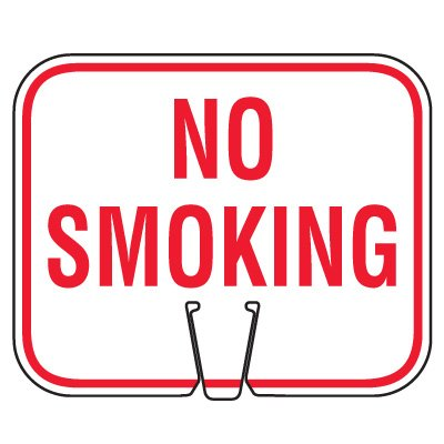 Traffic Cone Signs - No Smoking