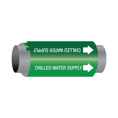Ultra-Mark® Self-Adhesive High Performance Pipe Markers - Chilled Water Supply