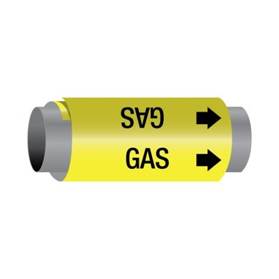 Ultra-Mark® Self-Adhesive High Performance Pipe Markers - Gas