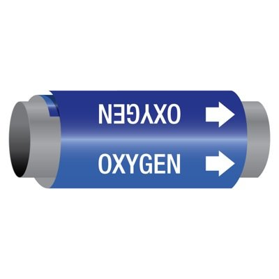 Ultra-Mark® Snap-Around High Performance Pipe Markers - Oxygen
