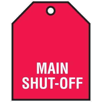 Main Shut-Off Vinyl Valve Indicator Tag