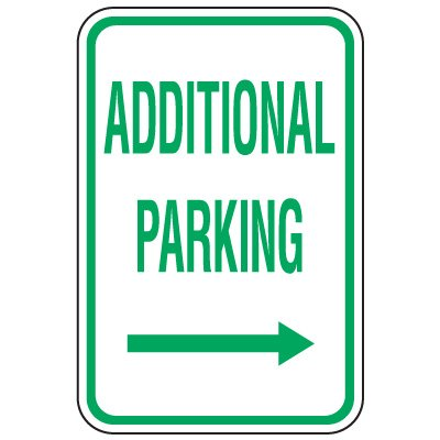 Visitor Parking Signs - Additional Parking (Right Arrow)