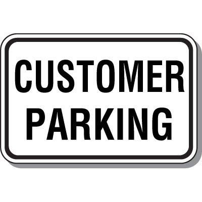 Visitor Parking Signs - Customer Parking